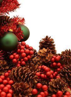 Free Shiny Red Christmas Tree Series - Tree4 Royalty Free Stock Image - 1523906