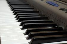 Free Synthesizer Keyboard Royalty Free Stock Photo - 1524545