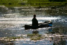 Free The Man In A Boat Stock Photography - 1525362