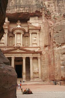 Free Treasury, Petra, Jordan, Middle East Royalty Free Stock Photo - 1525395