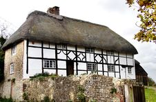 Thatched Village Cottage Royalty Free Stock Photo