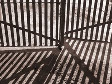 Free Gate Shadows Stock Photos - 1527723