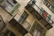 Shutters And Balconies Stock Image
