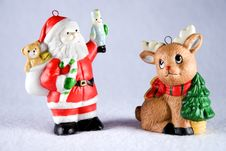 Free Santa And Reindeer Royalty Free Stock Photo - 1528785