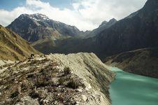Lake In The Cordilleras Mountain Stock Image