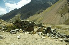 Free Ruins In The Peruvian Cordilleras Stock Images - 1529304