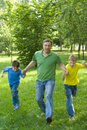 Free Father Playing With Children Stock Image - 15200401