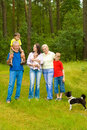 Free Portrait Of A Happy Family Of Six Royalty Free Stock Image - 15201356