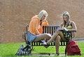 Free Teenage Girls Sitting In Front Royalty Free Stock Photos - 15201848
