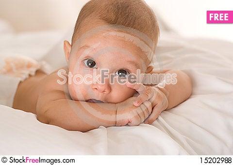 Free Portrait Of A Beautiful Newborn Royalty Free Stock Photos - 15202988