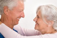 Happy Elderly Couple Together Royalty Free Stock Images