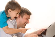 Free Happy Father And Son Stock Photo - 15200590