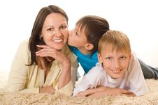 Free Happy Mom With Children Stock Images - 15200814