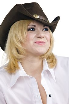 Free CowGirl Smile Royalty Free Stock Photography - 15200827