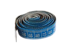 Free Blue Measuring Tape On White Royalty Free Stock Image - 15201006