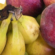 Bananas And Peaches Royalty Free Stock Image