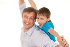 Free Happy Father And Son Royalty Free Stock Photos - 15201498