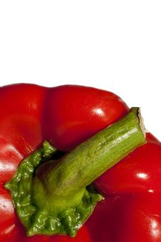 Free Red Bell Pepper, Frontal Closeup Royalty Free Stock Photos - 15201508