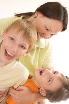 Free Happy Mom And Children Stock Photo - 15201510
