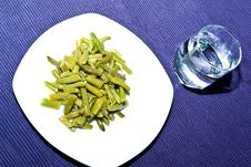 Presentation Of Green Beans Stock Images