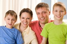 Parents With Their Two Children Royalty Free Stock Photos