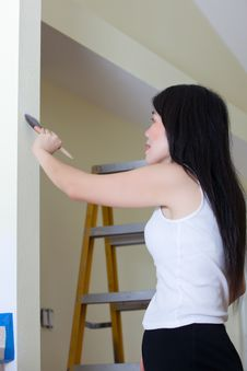 Asian Woman Contractor Stock Image