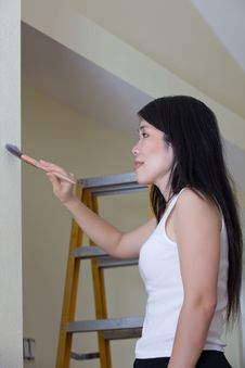 Asian Woman Contractor Royalty Free Stock Image