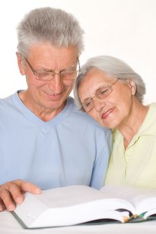 Happy Elderly Couple Together Stock Photos