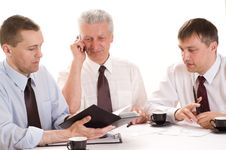 Free Three Businessmen Working Royalty Free Stock Photo - 15202185