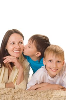 Free Happy Mom And Children Stock Photos - 15202263