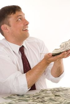 Young Man And Money Stock Photos