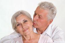 Free Elderly Couple On A White Royalty Free Stock Photo - 15202485