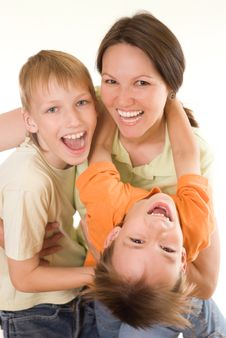 Free Happy Mom And Children Stock Photos - 15202503
