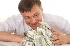 Free Young Man Holding Money Stock Photos - 15202523