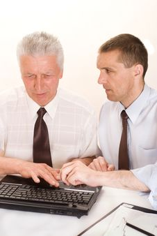 Free Two Businessmen Working Stock Images - 15202564