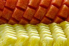Free Fresh Watermelon And Pineapple Stock Photo - 15202790