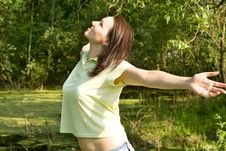 Free Happy Beautiful Girl Stock Photography - 15203022