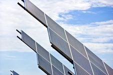 Free Solar Panels Reaching For The Sun Stock Image - 15203031