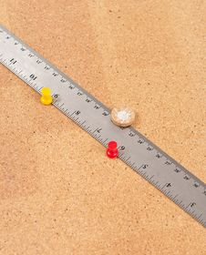 Free Ruler On Cork Board Royalty Free Stock Photo - 15203205