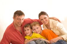Parents With Their  Children Stock Photos