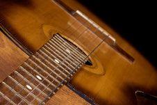 Free Guitar On Black Background Stock Photo - 15205200