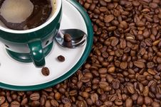 Free Coffee At Beans Royalty Free Stock Photos - 15205388