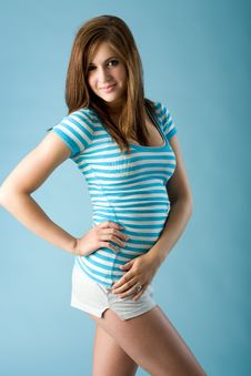Free Striped Cuteness Royalty Free Stock Photography - 15205477