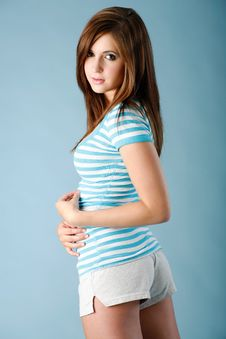 Free Striped Shirt And Shorts Stock Photo - 15205520