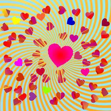 Free Abstract Background With Hearts Royalty Free Stock Photos - 15205558