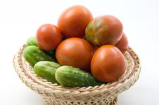 Free Tomatoes And Cucumbers Stock Photos - 15206453