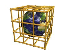 Free Earth In Golden Cage Stock Photos - 15207063