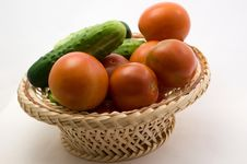 Free Tomatoes And Cucumbers Stock Photo - 15207230