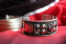 Free Bracelet On Fabric Royalty Free Stock Image - 15207376