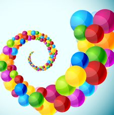 Colorful Spiral Background. Royalty Free Stock Image